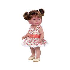 Кукла Кина брюнетка с хвостиками, умеет стоять, серия soft touch, Vestida de Azul