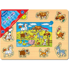 """Игра из дерева """"Весёлое лото. На ферме"""", Step Puzzle Степ Пазл"""