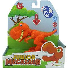 Игрушка Динозавр, открывает пасть, оранжевый, Junior Megasaur