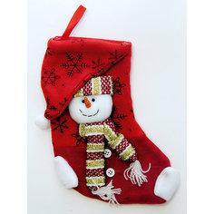 Украшение новогоднее подвесное Маленький Снеговик арт.42514 из полиэстра Magic Time