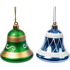 Новогоднее подвесное украшение из пластика, набор из 2 шт., 75462 Magic Time