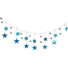 Новогодняя гирлянда Magic Land шарики, звезды и нити, 2 м Волшебная Страна