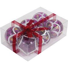 Набор елочных шаров Magic Land 6 шт, 6 см (розовые) Волшебная Страна