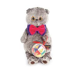 Мягкая игрушка Budi Basa Кот Басик с новогодним шариком, 25 см