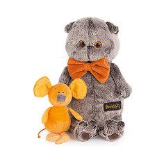 Мягкая игрушка Budi Basa Кот Басик с мышкой Миленой, 25 см