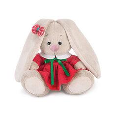 Мягкая игрушка Budi Basa Зайка Ми в красном платье в клетку, 15 см