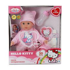 """Интерактивная кукла Карапуз """"Hello Kitty"""" 35 см, в розовом"""