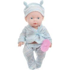 "Интерактивная кукла Карапуз ""Hello Kitty"" с аксессуарами 25 см, в голубом"