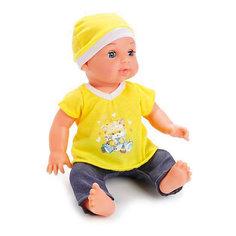 "Интерактивная кукла Карапуз ""Hello Kitty"" с аксессуарами 35 см, в желтом"