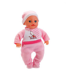 "Интерактивная кукла Карапуз ""Hello Kitty"" озвученный, 30 см (в розовом)"