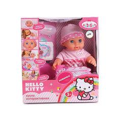 """Интерактивная кукла Карапуз """"Hello Kitty"""" пьет, писает (в светло-розовом) 30 см"""