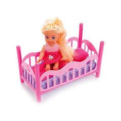 """Мини-кукла с кроваткой Карапуз """"Hello Kitty Машенька"""" в розовом, 12 см"""
