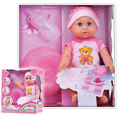 Интерактивная кукла Карапуз пьет, писает, 25 см (в розовом)