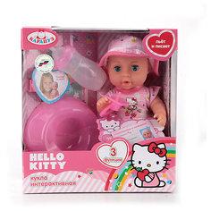 "Интерактивная кукла Карапуз ""Hello Kitty"" пьет, писает, закрывает глазки, 20 см (девочка)"