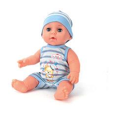 Интерактивная кукла Карапуз пьет, писает, закрывает глазки, 30 см (в голубом)