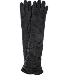 Длинные перчатки из натуральной замши Eleganzza