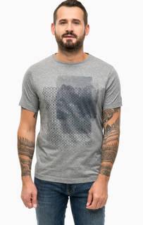 Хлопковая футболка с принтом Lerros