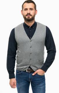 Серый хлопковый жилет с карманами Lerros