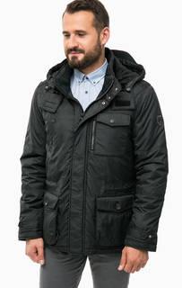 Черная утепленная куртка с капюшоном Lerros