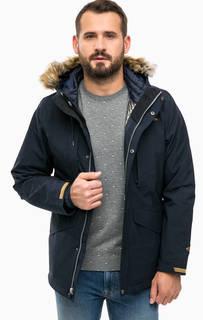 Синяя куртка с капюшоном и дополнительным пуховиком Columbia