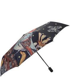 Складной автоматический зонт с куполом из сатина Trust