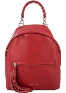 Красный рюкзак из натуральной кожи Coccinelle