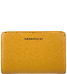Желтый кошелек из фактурной кожи Coccinelle