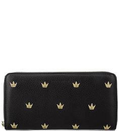 Кожаный кошелек с вышивкой Coccinelle