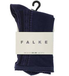 Синие тонкие носки из хлопка Falke