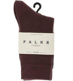 Бордовые носки из хлопка Falke