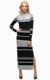 Длинное прямое платье с разрезами Marciano Guess