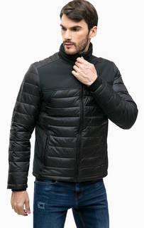 Черная демисезонная куртка со скрытым капюшоном Calvin Klein Jeans