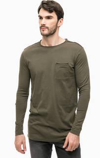 Удлиненная футболка с нагрудным карманом Calvin Klein Jeans