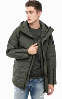Демисезонная куртка цвета хаки Replay