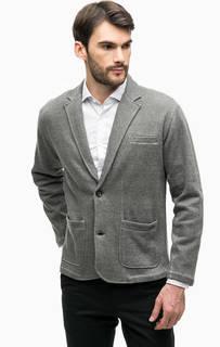 Трикотажный пиджак из хлопка Blue Seven
