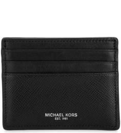 Черная кожаная визитница Michael Michael Kors