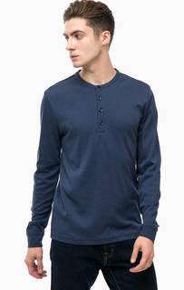 Синяя хлопковая футболка Pierre Cardin