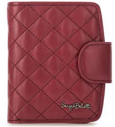Бордовое портмоне из натуральной кожи Sergio Belotti