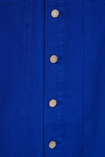 Пальто из денима с меховым воротником 3.1 Phillip Lim