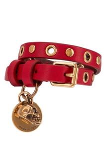 Кожаный браслет с подвесками Alexander Mc Queen