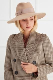 Фетровая шляпа с лентой Borsalino