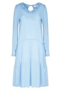 Платье с воланами Balenciaga