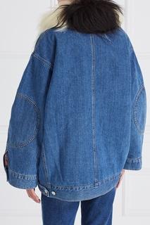 Джинсовая куртка с мехом Acne Studios