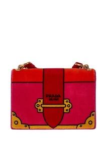 Бархатная сумка Cahier Prada