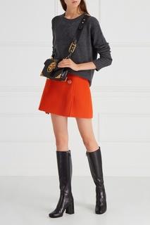 Шерстяная юбка Prada