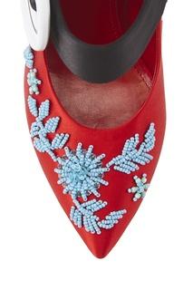 Атласные туфли Prada