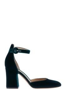 Бархатные туфли Gianvito Rossi