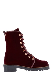 Бархатные ботинки Stuart Weitzman