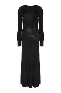 Платье с вышивкой бисером и кристаллами Antonio Berardi