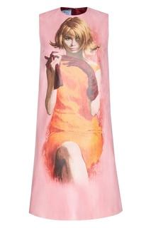 Хлопковое платье Prada